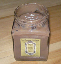 A jar of rhassoul mud for treatments