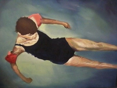 "One of my favourites; Joel's ""Swimming"" painting"